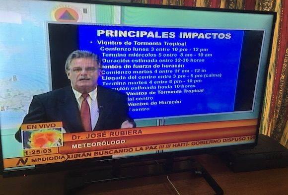 Pronóstico de los impactos del huracán Matthew en Cuba, según José Rubiera (+ Video)