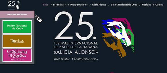 Sitio oficial de ventas on-line para visitantes extranjeros en el Festival es: www.festivalballethabana.cu