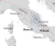 El epicentro de los terremotos se localizó en la zona central de Italia.