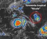 Nicole es la décimocuarta tormenta tropical de esta temporada. Imagen: @conagua_clima.