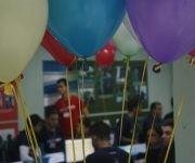 Los globos son protagonistas durante la competencia, cada color significa un problema resuelto. Foto: José Raúl Concepción/ Cubadebate.