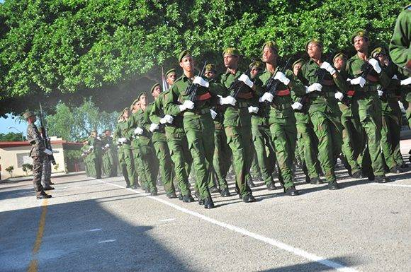 Acto político y ceremonia militar con motivo del aniversario 55 de la fundación de la Brigada de la Frontera (BF), Orden Antonio Maceo. Foto: Lorenzo Crespo Silveira/ Venceremos.