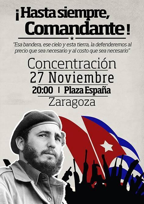 concentracion-en-zaragoza-en-honor-a-fidel