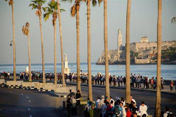 Caravana de la Libertad en el Centro Histórico de La Habana, Fotos: Alexis Rodríguez Habana Radio