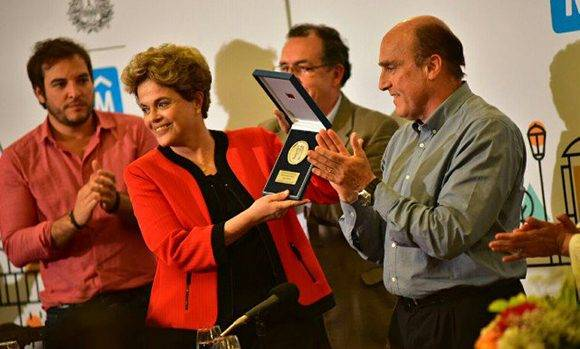 Dilma-ciudadana ilustre uruguay