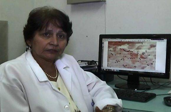 La Dra en Ciencias Médicas María Casanova, investigadora principal del Ensayo Clínico. Foto: Ismary Barcia/ Periódico 5 de Septiembre.