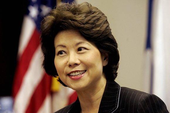 Elaine Chao será la secretaria de Transporte de EE.UU. Foto: AFP/ Getty.