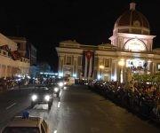 La caravana en la ciudad de Cienfuegos. Foto: Ladyrene Pérez