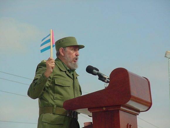 Fidel en Sancti Spíritus. Foto tomada de Escambray.