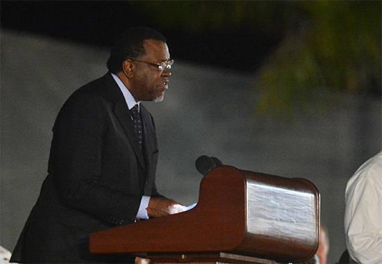 Hage Geingob durante su discurso en la Plaza de la Revolución. Foto: Cubadebate/ Archivo.