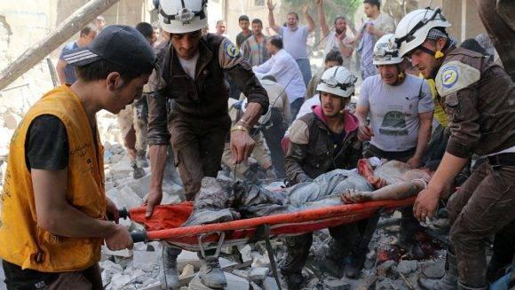 Imagen tomada luego de un bombardeo a Alepo en abril de 2016. Foto tomada de CNN en español.