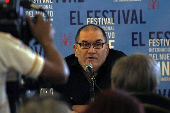 Iván Giroud, presidente del Festival del Nuevo Cine Latinoamericano, durante la conferencia de prensa celebrada en el Hotel Nacional. Foto: José Raúl Concepción/ Cubadebate.
