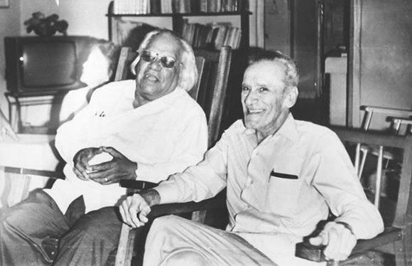 José Soler Puig y Nicolás Guillén. Foto cortesía de León Estrada.