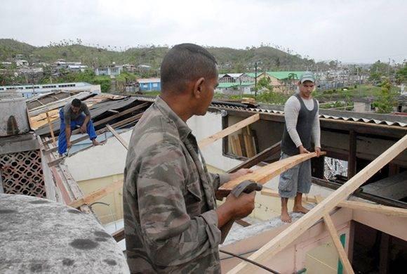 Las brigadas de distintas denominaciones religiosas se incorporaron a las tareas de recuperación: Fotos Leonel Escalona Furones