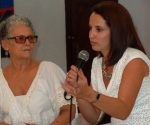Lizette Vila e Ingrid León, realizadoras del documental. Foto tomada de Cubarte.