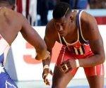 Luchadores cubanos hacia final del Grand Prix en Azerbaiyán.