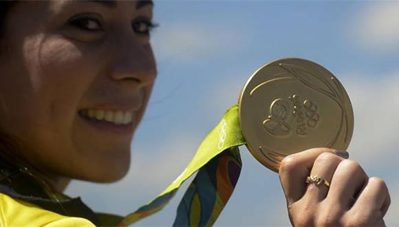 Mariana Pajón tiene dos medallas de oro olímpicas. Foto: Getty Images.