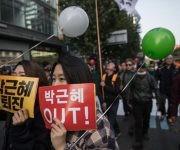 Dos días ya llevan las movilizaciones en Seúl. Foto: Getty Images.