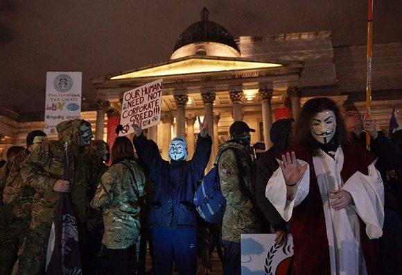 En la plaza Trafalgar, en Londres. Foto Niklas Halle'n/ AFP.