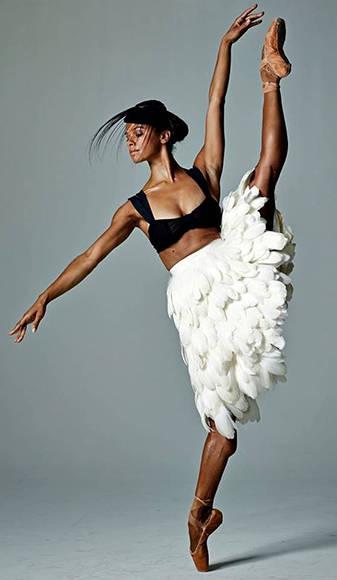Misty Copeland. Foto tomada del sitio oficial de la bailarina.
