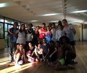 Misty Copeland comparte con elenco de Danza Contemporánea de Cuba. Foto: José Ernesto González.