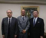 Reciben en embajada de Cuba en Japón a Tomoyoshi Kondo, Presidente de la Conferencia Económica Japón-Cuba