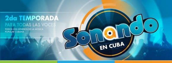 Póster promocional de la segunda temporada de Sonando en Cuba. Imagen tomada de la página en Facebook del programa.