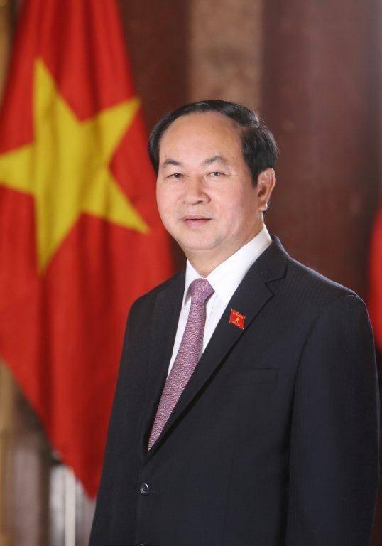 Presidente de la República Socialista de Vietnam, Tran Dai Quang. Foto: Cortesía de la delegación oficial vietnamita.