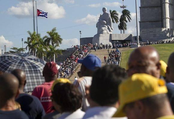Homenaje a Fidel en la Plaza de la Revolución. Foto: Ladyrene Pérez/ Cubadebate