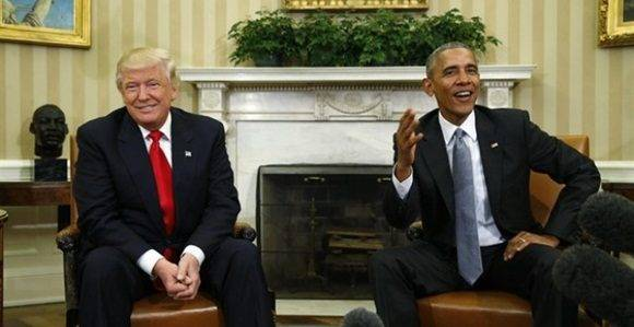 Donald Trump, presidente electo de EEUU y Barack Obama, presidente saliente. juntos. / Foto: REUTERS