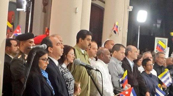 Acto de homenaje al líder de la Revolución Cubana, Fidel Castro, celebrado en Venezuela. Foto: Embajada de Cuba en Venezuela.