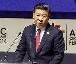 El presidente chino, Xi Jingping, durante la inauguración de la Cumpre de la APEC. Foto: AFP.