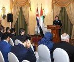 Inauguración del Foro Empresarial Cuba - Emiratos Arabes Unidos, Hotel Nacional, La Habana, Cuba.