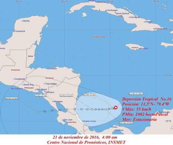 Se forma la décimo sexta depresión tropical de la actual temporada ciclónica