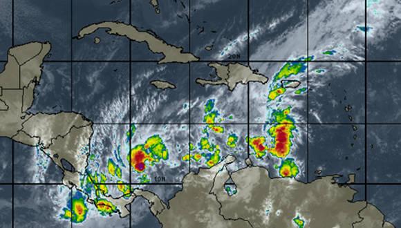 El fenómeno meteorológico está cercano a las costas de Centroamérica. Foto tomada del Instituto de Meteorología de la República de Cuba.