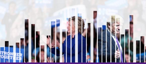 El mundo ha buscado más veces el nombre de Donald Trump, excepto durante la Convención Nacional Demócrata, cuando se hizo oficial su candidatura por el partido demócrata y la pausa que hizo a la campaña por problemas de salud, donde Hillary Clinton fue una búsqueda con mayor frecuencia en el buscador más famoso del mundo, Google.