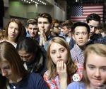 La expectativa durante el conteo de los votos. Foto: Todd Heisler/ The New York Times.
