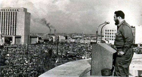 Fidel en la Primera Declaración de La Habana. Febrero de 1962.