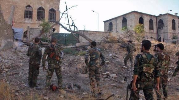 fuerzas del ejército sirio en alepo