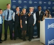 Primer vuelo de Jet Blue llegó a Camagüey. Foto: Periódico Adelante