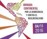 jornada continental por la Democracia y contra el Neoliberalismo