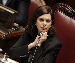 Il presidente della Camera Laura Boldrini durante l'esame delle norme sulla responsabilità civile dei magistrati, Roma, 24 Febbraio 2015. ANSA/GIUSEPPE LAMI