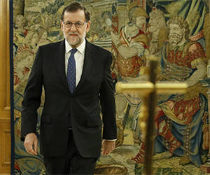 Mariano Rajoy presta juramento el pasado lunes 31 de octubre. Foto: Getty Images.