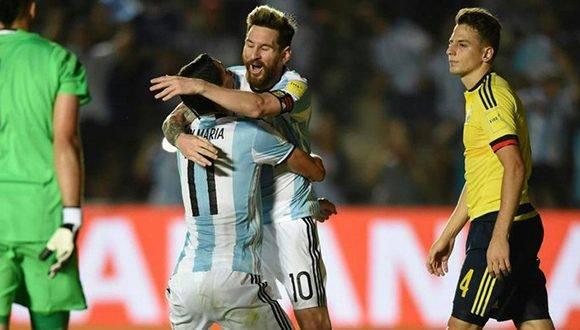 Argentina goleó a Colombia con anotaciones de Messi, Pratto y Di María. Foto tomada de Marca.