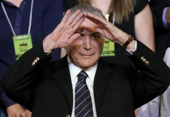 Michel Temer. Foto: Reuters.