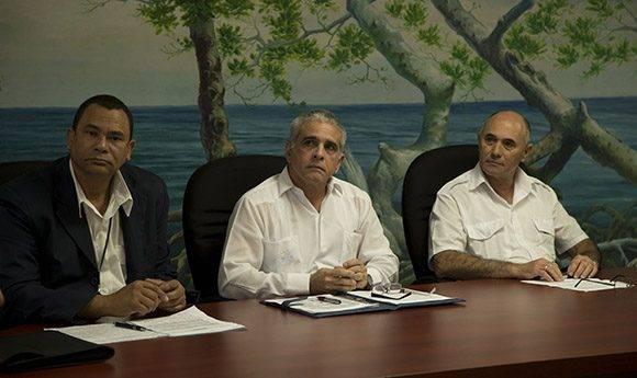 Conferencia de prensa en el Ministerio de Transporte. Foto: Ismael Francisco/ Cubadebate