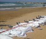personas muertas a orillas del mediterráneo