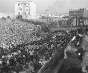 La Plaza de la Revolución ha sido testigo inigualable de la obra de Fidel al frente de la Revolución Cubana. Foto: Archivo.