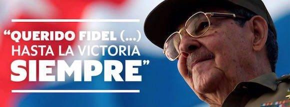 """Raúl Castro: Aquí, en esta Plaza, te decimos """"Hasta la victoria siempre"""""""