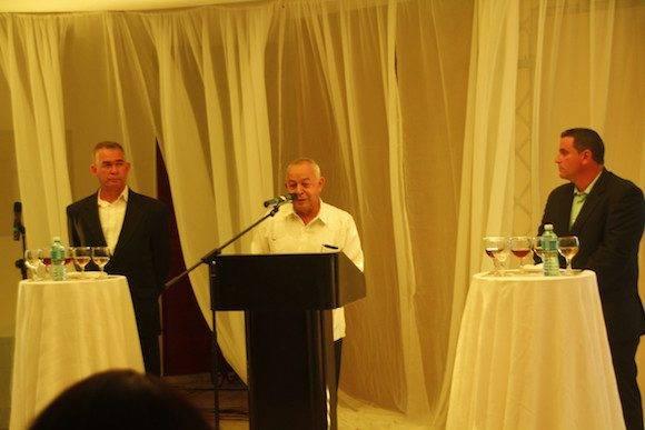 El presidente de Cuba Ron, Juan González Escalona elogió la calidad de la nueva marca presentada.